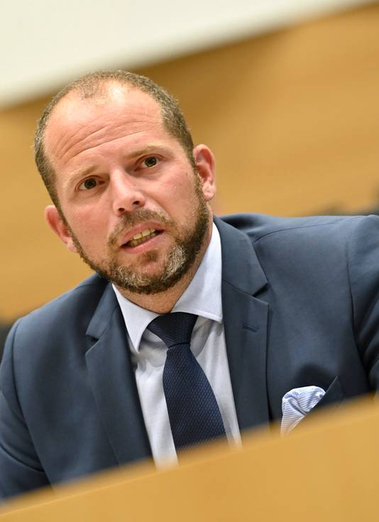 Theo Francken (N-VA), ex-secrétaire d'État à l'Asile et la Migration et désormais député fédéral.