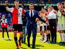 Giovanni van Bronckhorst na zijn laatste wedstrijd als coach van Feyenoord: 0-2 tegen ADO Den Haag op 12 mei.