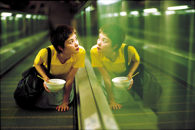 Faye Wong in  Chungking Express (1994) van Wong Kar Wai. Beeld