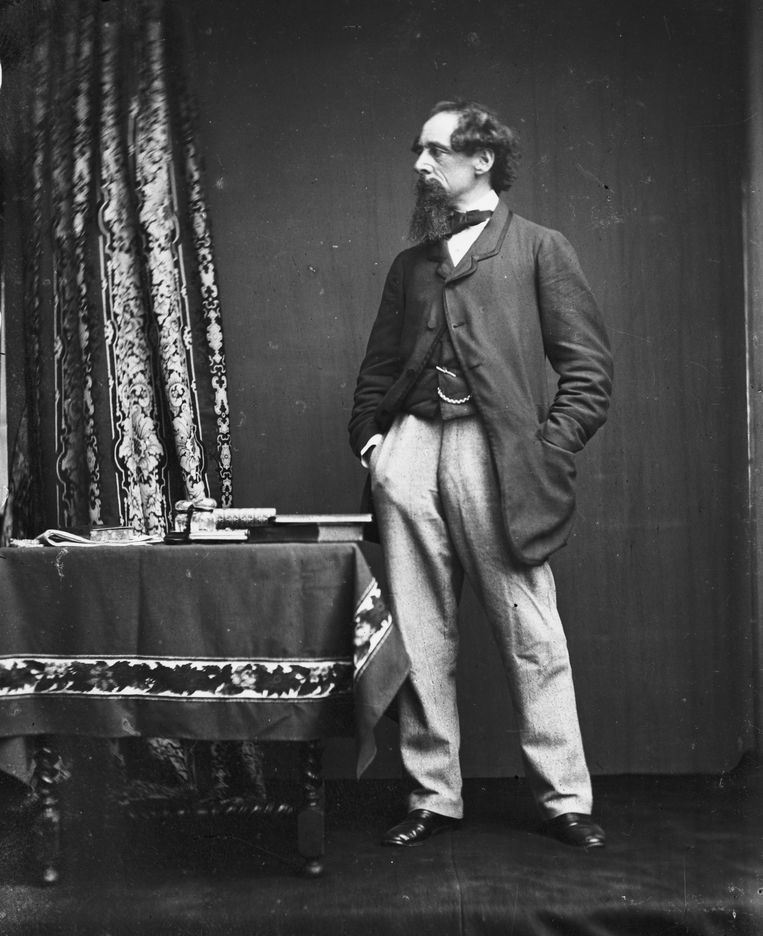 Charles Dickens, circa 1860.  Beeld Getty Images
