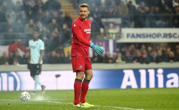 Simon Mignolet lors du choc à Anderlecht le 19 janvier dernier.