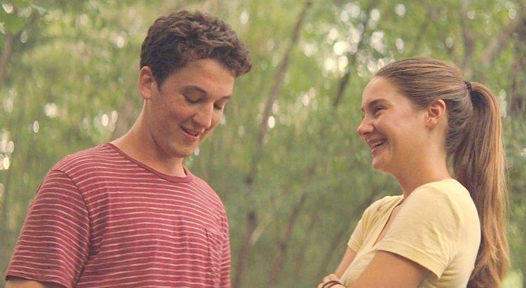 Miles Teller en Shailene Woodley in The Spectacular Now van James Ponsoldt. Beeld