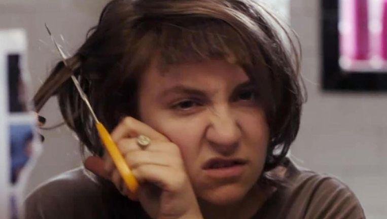 Lena Dunham als de ietwat bizarre twentysomething Hannah in 'Girls'. Beeld kos