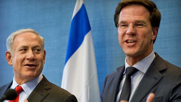 De Israëlische premier Netanyahu met premier Rutte Beeld ANP