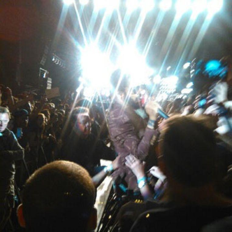 Lenny Kravitz in het publiek. Beeld Pieter Coupé