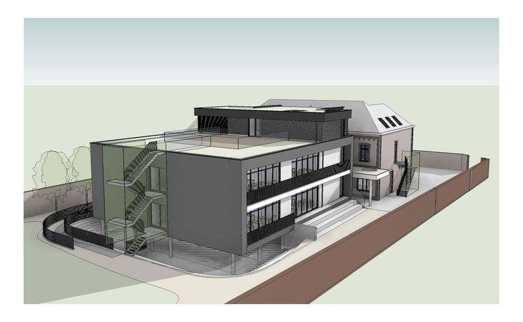 Zo zal de vernieuwde Sint-Cajetanusschool eruit zien.