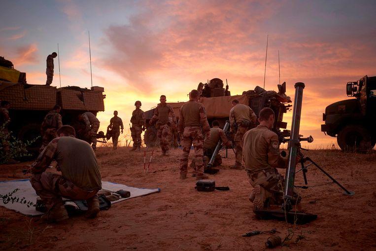 Archiefbeeld - Soldaten van het Franse leger tijdens een militaire operatie in Mali Beeld AFP