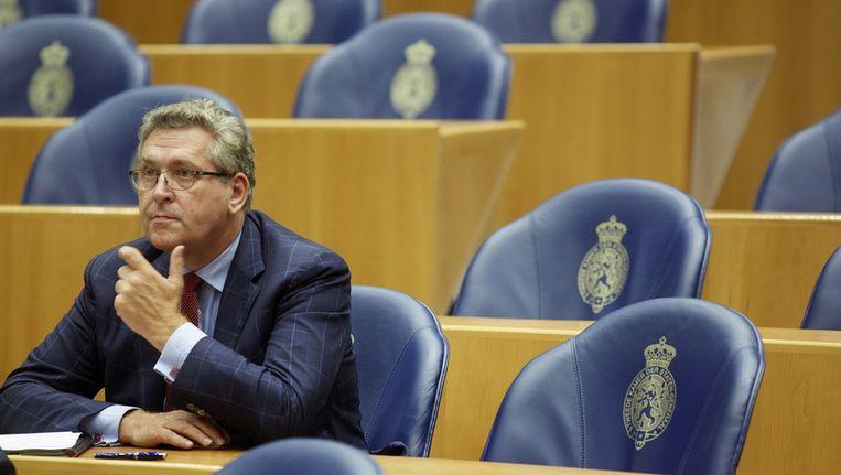 50Plus-voorzitter Henk Krol in de Tweede Kamer. Beeld anp