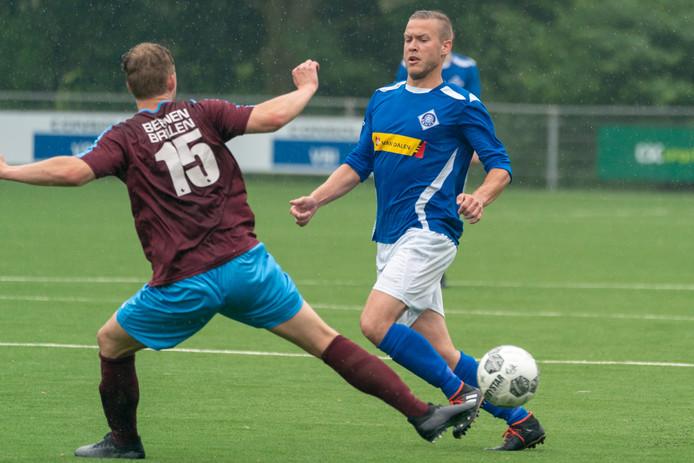 Beeld uit de wedstrijd tussen RKHVV en Heerenveen.