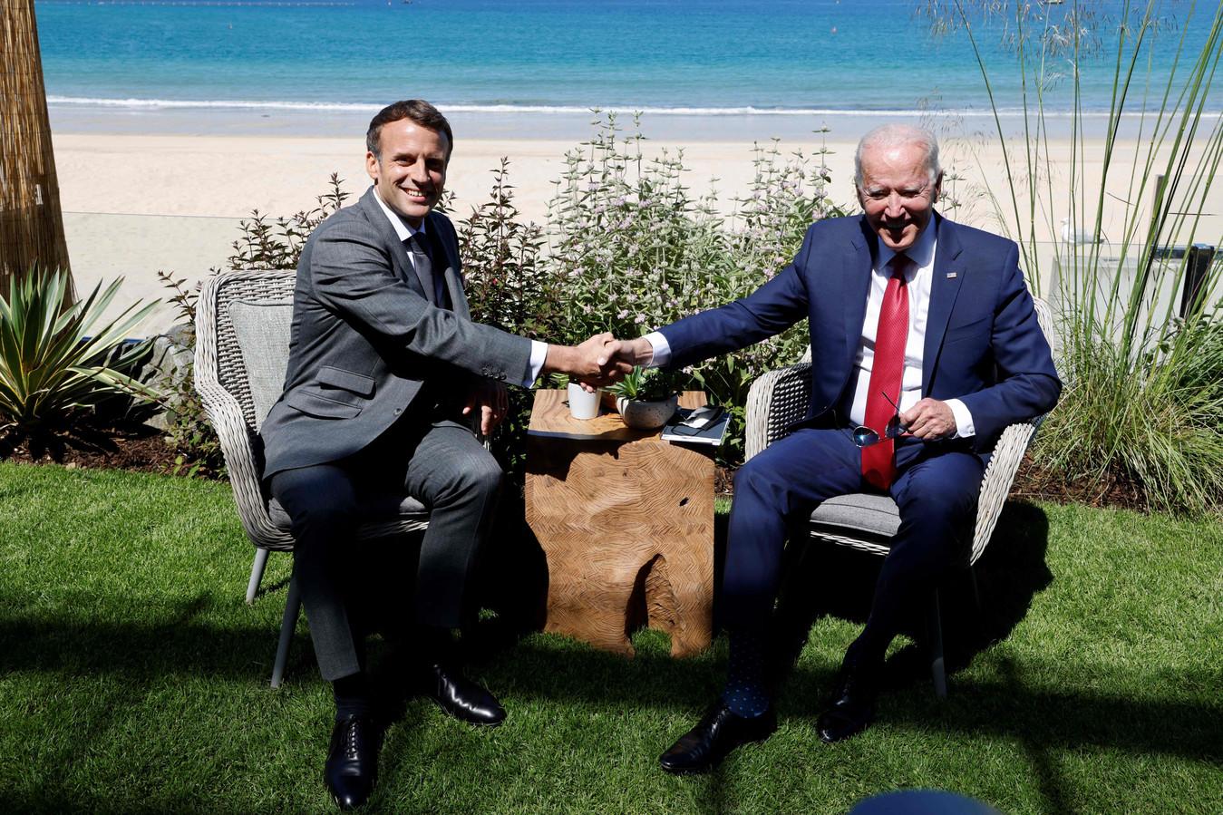 Biden wil de banden met zijn Europese bondgenoten - zoals de Franse president Emmanuel Macron - aanhalen.