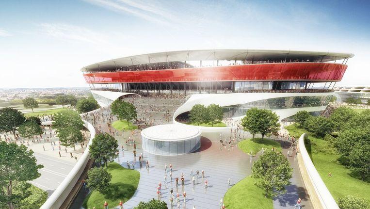 Zo moet het nieuwe Eurostadion eruit zien. Beeld belga