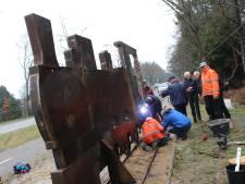 Smalspoorlocomotief 'aangekomen' in Budel-Dorplein