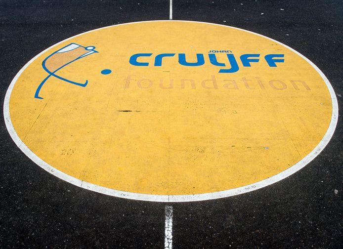 Het Cruijff Court naast het Olympisch Stadion.