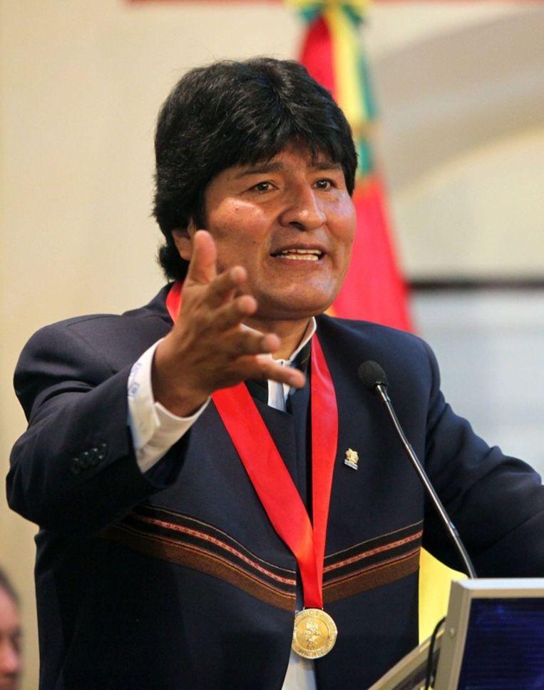 De Boliviaanse president Evo Morales. Beeld EPA