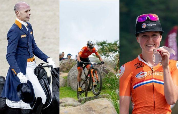 Drie Zeeuwse sporters gaan met grote ambities naar de Olympische Spelen in Tokyo. Van links naar rechts: Hans Peter Minderhoud, Milan Vader en Anne Terpstra.