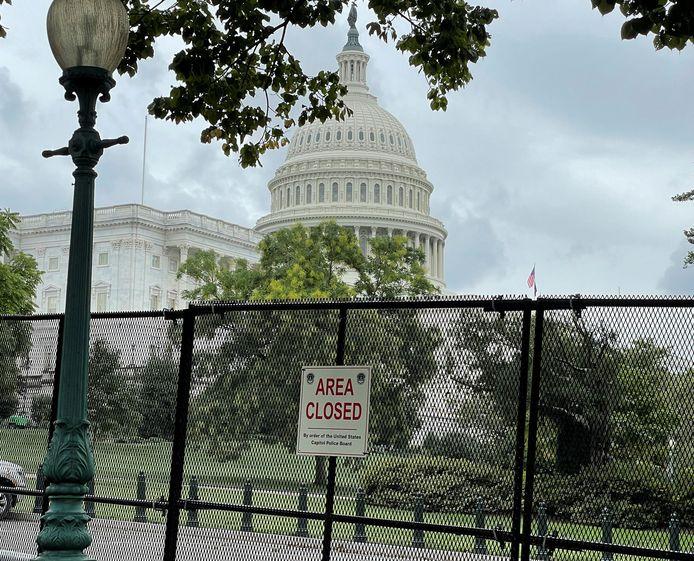 Voorafgaand aan de demonstraties van zaterdag is het Capitool hermetisch afgesloten.