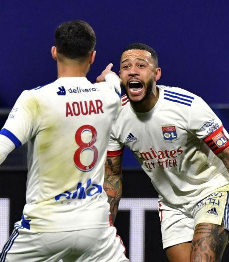 Memphis met assist belangrijk bij moeizame zege Lyon