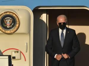 De eerste beelden van Joe Biden in België: extreme beveiliging en president met zijn karakteristieke zonnebril