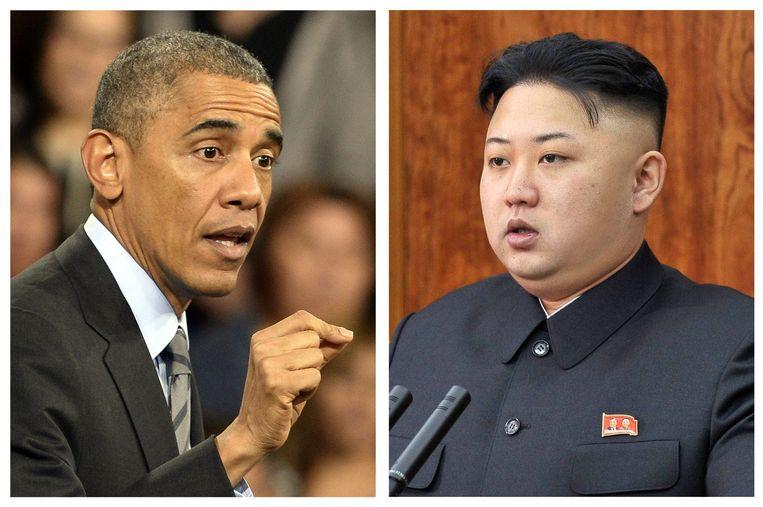 De spanningen tussen Obama en Kim Jong-un zijn verder opgelopen door de Sony-hack. Beeld epa