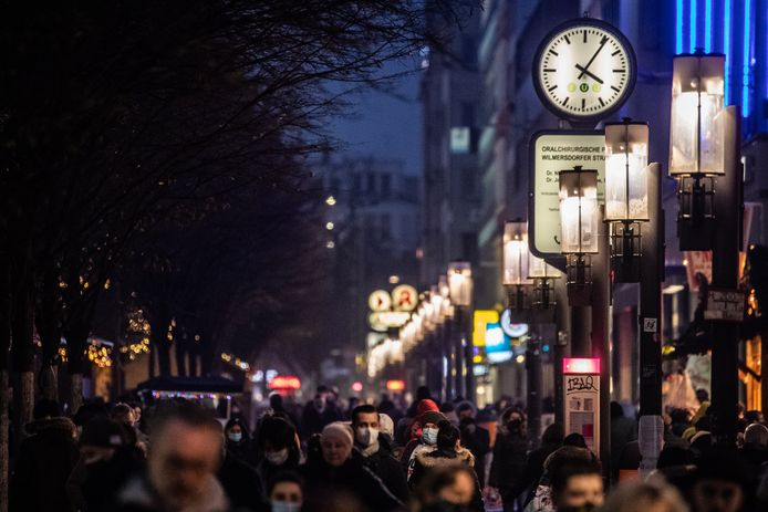Ook de afgelopen dagen was het druk in de Duitse winkelstraten, zoals hier in Berlijn.