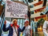 Protestjaar: raad het ontbrekende woord op het spandoek