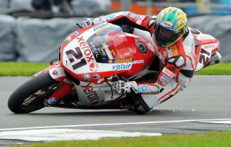 Troy Bayliss in Donington. Beeld UNKNOWN