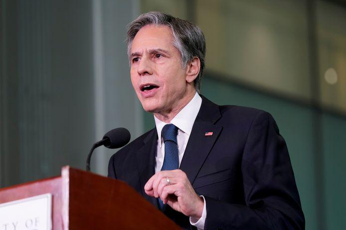 De Amerikaanse minister van Buitenlandse Zaken Antony Blinken verdedigde maandag de terugtrekking van de VS uit Afghanistan tijdens een virtuele hoorzitting in het Congres.