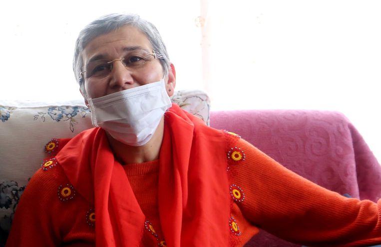 Leyla Güven na haar vrijlating.