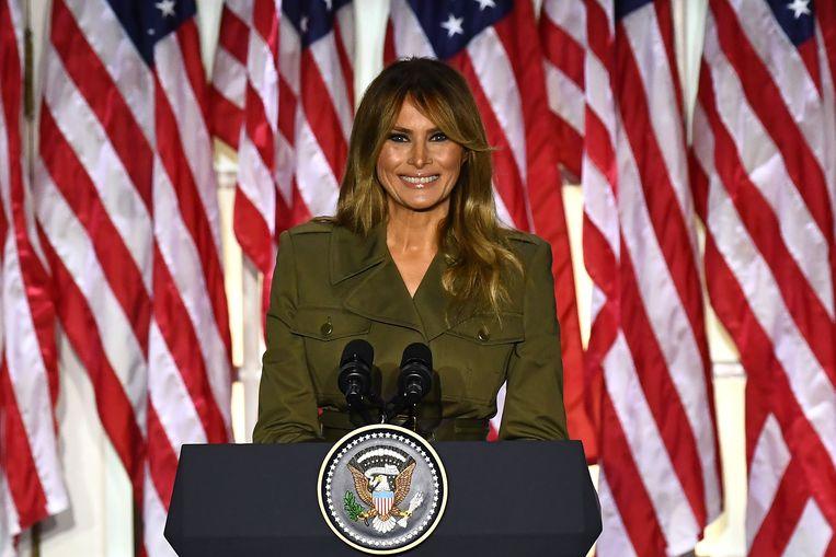 Melania Trump op de Republikeinse partijconventie Beeld AFP