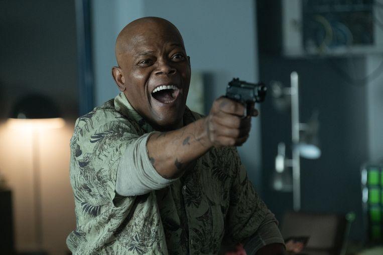 Samuel L. Jackson in Hitman's Wife's Bodyguard. Beeld