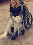 Saskia in haar rolstoel