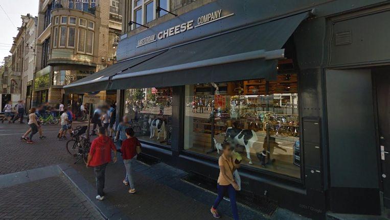 De vestiging van de Amsterdam Cheese Company op de Leidsestraat Beeld Google Streetview