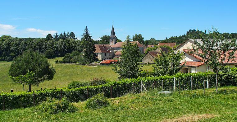 De aanplanting in Saint-Pierre-de-Frugie volgt een natuurlijke harmonie, geen strak aangelegde perkjes dus.  Beeld Imco Lanting