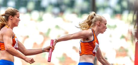 Estafetteploeg naar finale ondanks moeizame wissel: 'Het kan sneller, dit was geen perfecte race'