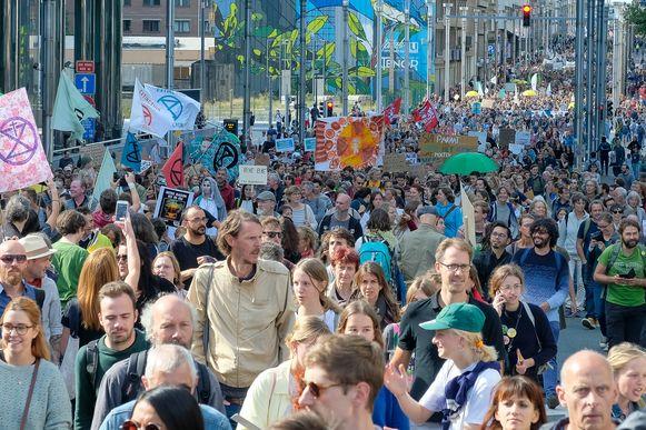 Ook in Brussel kwamen 15.000 mensen op straat.