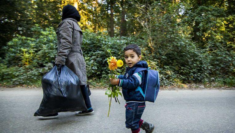 Vluchtelingen in Nijmegen Beeld anp