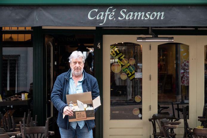 Frits Cleijne, eigenaar van het door de gemeente Nijmegen gesloten café Samson.