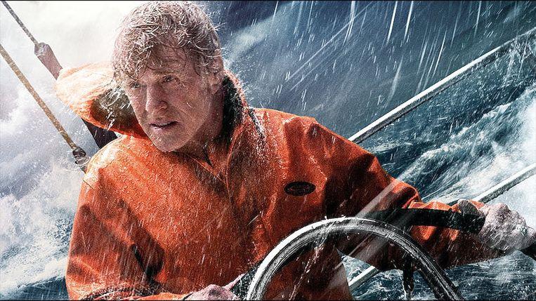 Redford in 'All is Lost', een solo-avontuur waarin bijna niet gesproken wordt.  Beeld