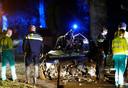 Hulpverleners vochten na het ongeval geruime tijd voor het leven van de man.