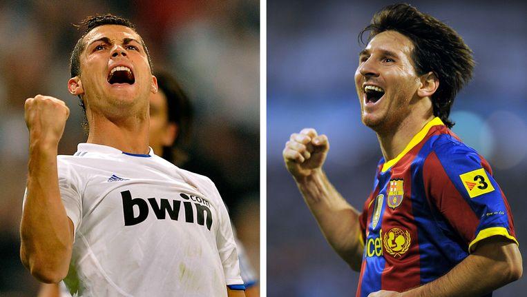 Cristiano Ronaldo en Lionel Messi. Beeld null