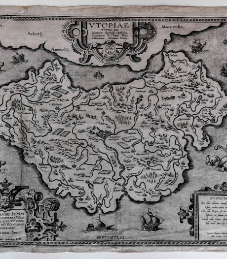 Kaart Utopia van Antwerpse cartograaf Abraham Ortelius beschermd als topstuk