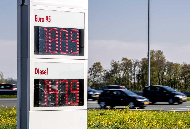 Stijgende benzineprijzen. Beeld ANP