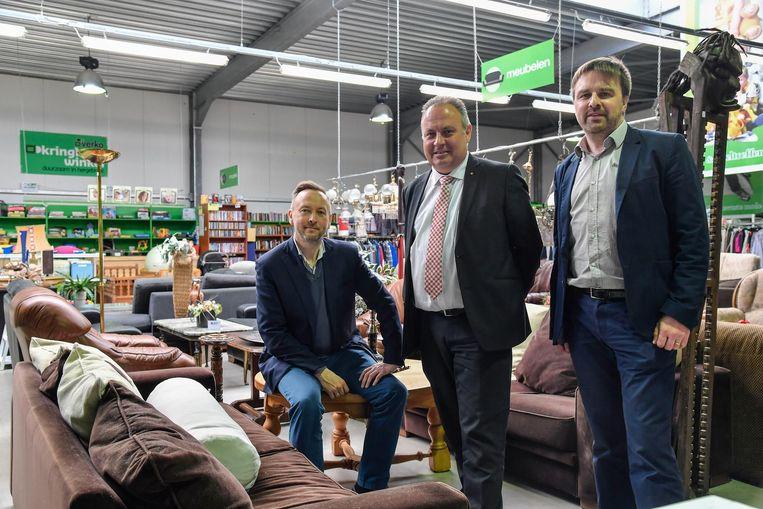 Schepen Dirk Abbeloos en Verko-directeur Kris Verwaeren.