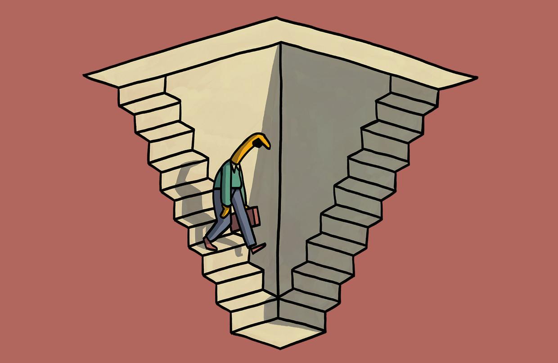 Verveling in je werk, iedere dag herhalende taken: hoe komen we in een sleur terecht en hoe komen we er weer uit? Beeld Matteo Bal
