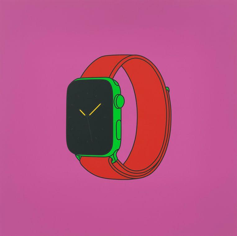 De Apple Watch van Michael Craig-Martin.  Beeld Galerie Reflex Amsterdam