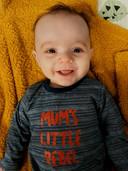 Finn (17 weken) is het zoontje van Laurie Bailliu.