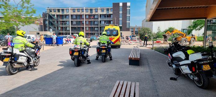 De peuter die te water raakte in het Bodegraafse zwembad werd met spoed naar het ziekenhuis in Gouda gebracht.