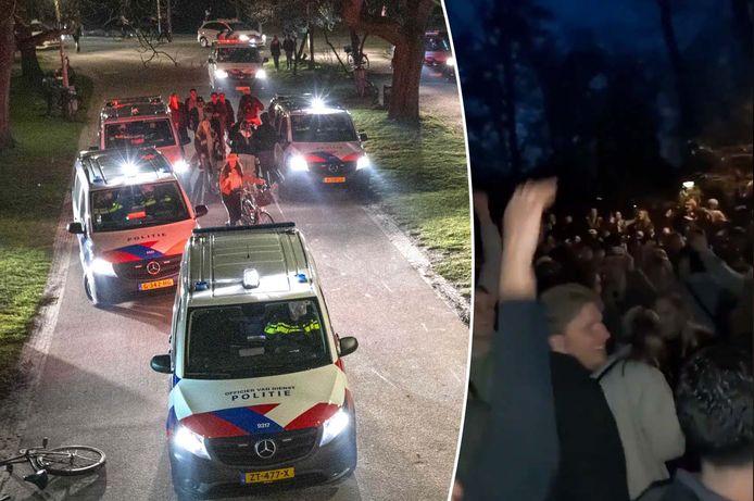 Politie in het Vondelpark.