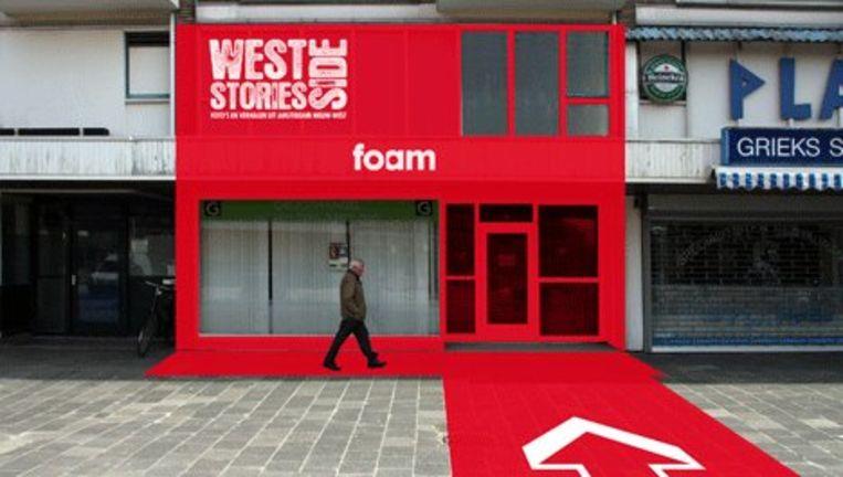 Het ontwerp van het nieuwe dependence van Foam in Amsterdan Nieuw-West dat op 19 mei wordt geopend. Beeld: FOAM Beeld