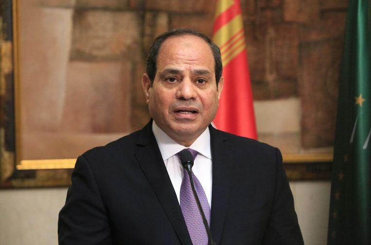 De Egyptische president Al-Sissi. Beeld EPA